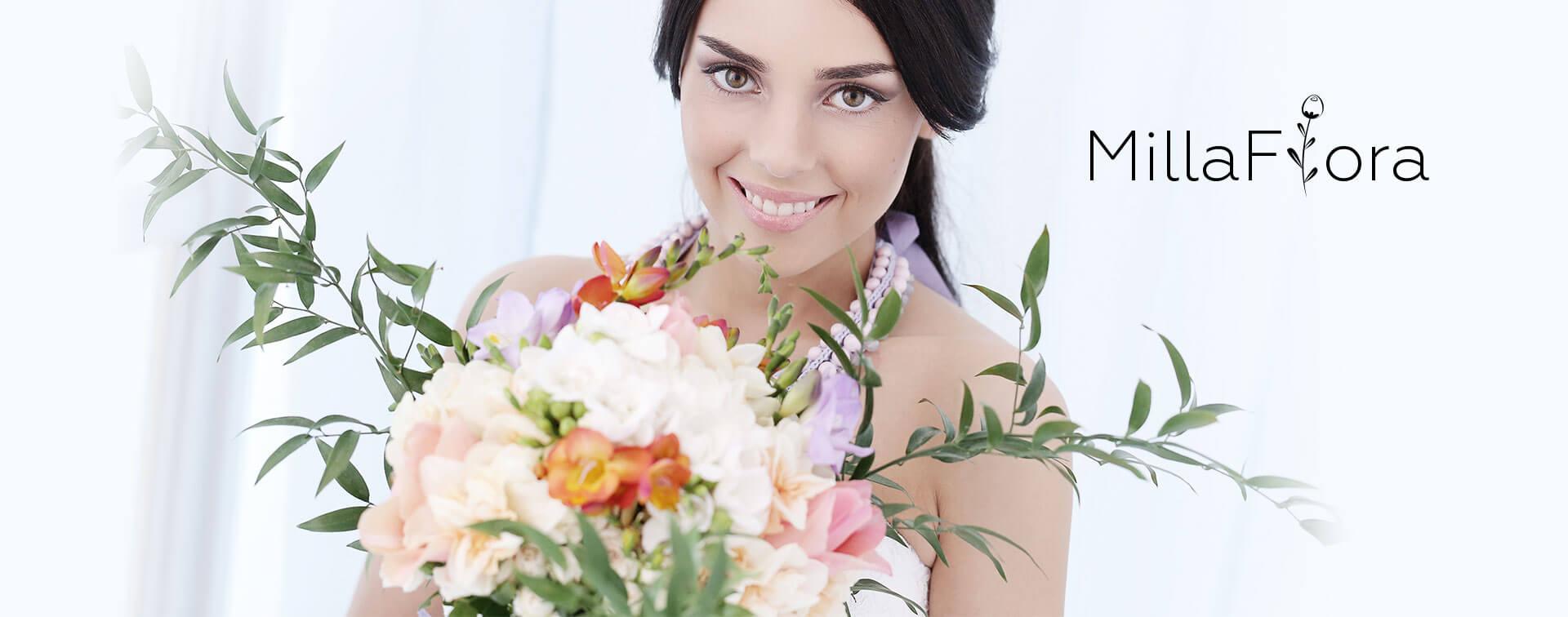 """Лендинг для сети салонов цветов """"MillaFlora"""""""