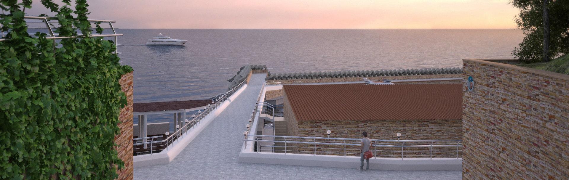 Реконструкция причала базы Sea-Club